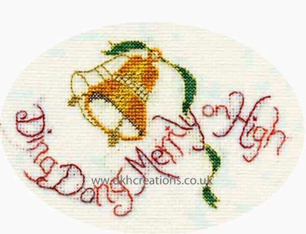 Ding Dong Merrily Christmas Card Cross Stitch Kit